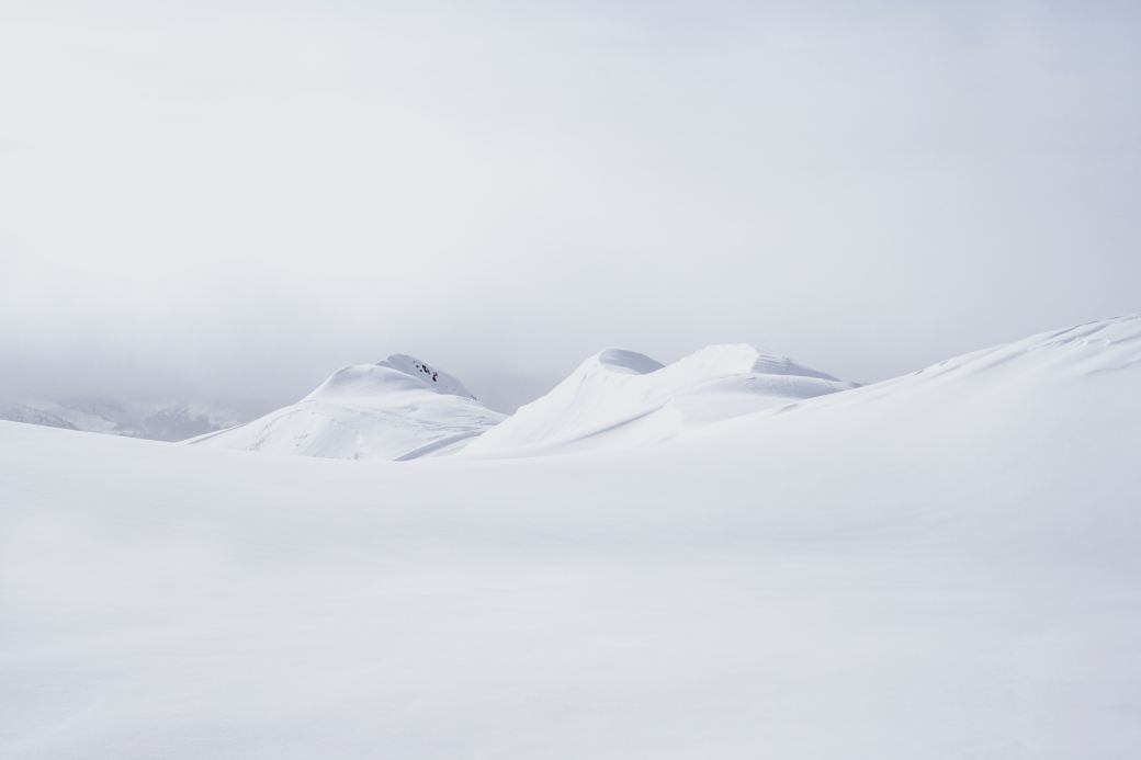 Snowy mountain tops