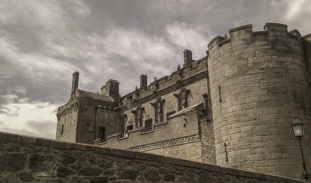 A view of Stirling Castle's battlements